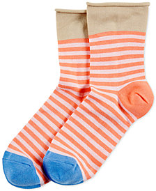 HUE® Women's Roll-Top Shortie Socks