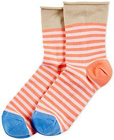 HUE® Women's Roll-Top Shortie Socks