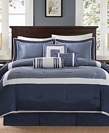 Genevieve 7-Pc. Queen Comforter Set