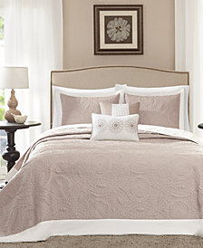 Madison Park Ashbury 5-Pc. Quilted Queen Bedspread Set