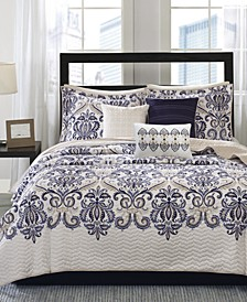 Cali 6-Pc. Quilted Full/Queen Coverlet Set