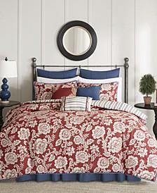 Lucy Cotton Reversible 9-Pc. Queen Comforter Set