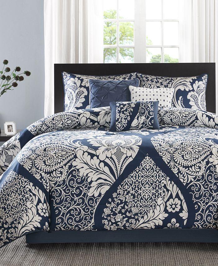 Madison Park - Vienna Cotton 7-Pc. Queen Comforter Set
