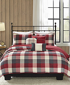 Madison Park Ridge 6-Pc. Full/Queen Coverlet Set