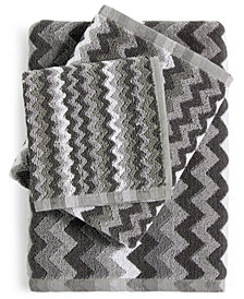 LAST ACT! Cobra Zig-Zag Cotton Jacquard Wash Towel