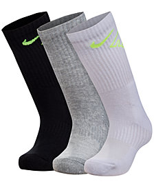 Nike 3-Pk. Crew Socks, Little Boys