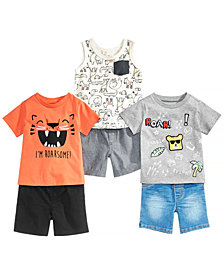 First Impressions Baby Boys Tanks, T-Shirts & Shorts, Created for Macy's