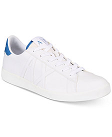 A|X Armani Exchange Men's Classic Leather-Effect Low-Top Sneakers