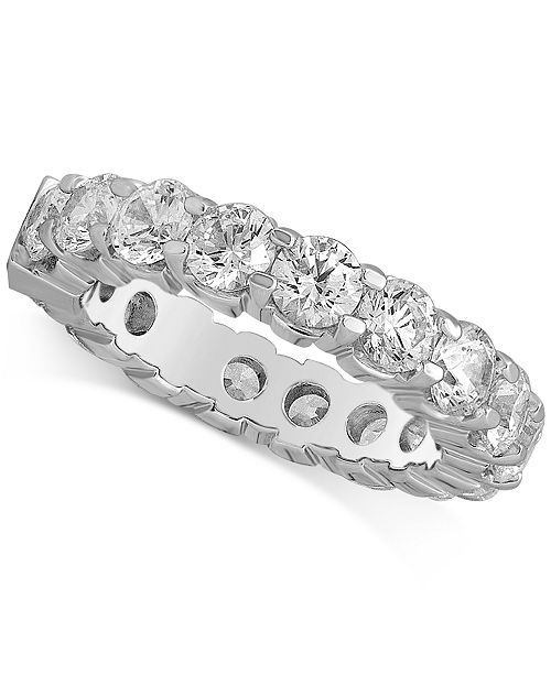 Macy's Diamond Eternity Band (4 ct. t.w.) in 14k White Gold