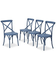 Maxwell Outdoor Dining Chairs (Set of 4), Quick Ship