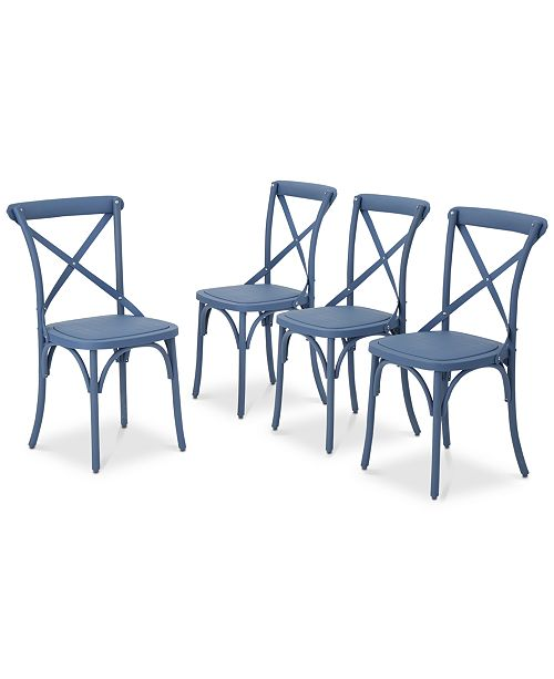 Noble House Maxwell Outdoor Dining Chairs (Set of 4)