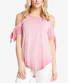 Karen Kane Tie-Sleeve Cold-Shoulder Top