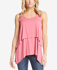 Karen Kane Tiered Handkerchief-Hem Top