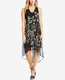 Karen Kane Floral-Print High-Low Dress