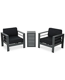 Madrid 3-Pc. Outdoor Chat Set, Quick Ship