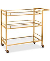 CLOSEOUT! Martha Stewart Collection Copper-Tone Bar Cart, Created for Macy's