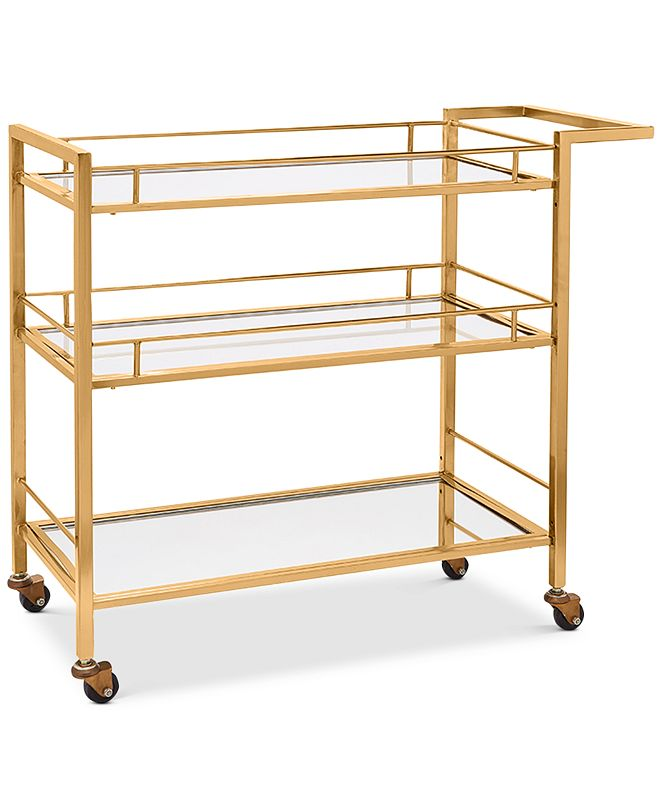 Martha Stewart Collection CLOSEOUT! Copper-Tone Bar Cart, Created for Macy's