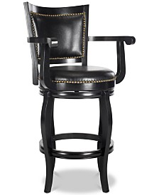 Morel Swivel Bar Stool, Quick Ship