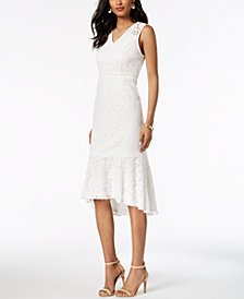 Adrianna Papell Sleeveless Lace Midi Dress