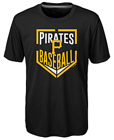 Outerstuff Pittsburgh Pirates Run Scored Poly T-Shirt, Big Boys (8-20)
