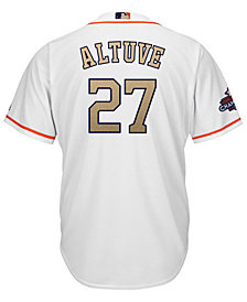 Majestic Men's Jose Altuve Houston Astros Gold Replica Cool Base Jersey