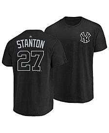 Majestic Men's Giancarlo Stanton New York Yankees Pitch Black Player T-Shirt