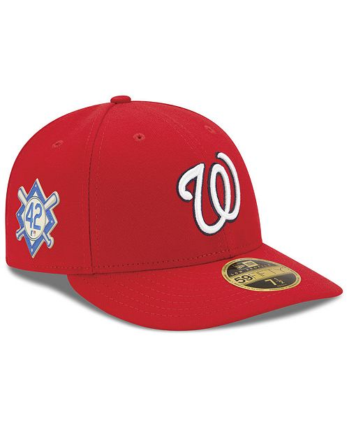 the latest b9fb7 ffc2c ... New Era Washington Nationals Jackie Robinson Day Low Profile 59FIFTY  FITTED Cap ...