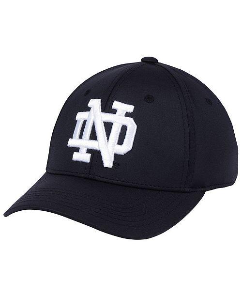 d5e07711cf818 ... Top of the World Notre Dame Fighting Irish Phenom Flex Black White Cap  ...
