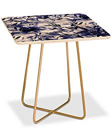 Deny Designs Jacqueline Maldonado Changes Indigo Square Side Table