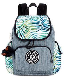 Kipling Printed City Pack X-Small Denim Backpack