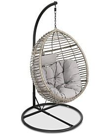 Logan Outdoor Basket Chair, Quick Ship