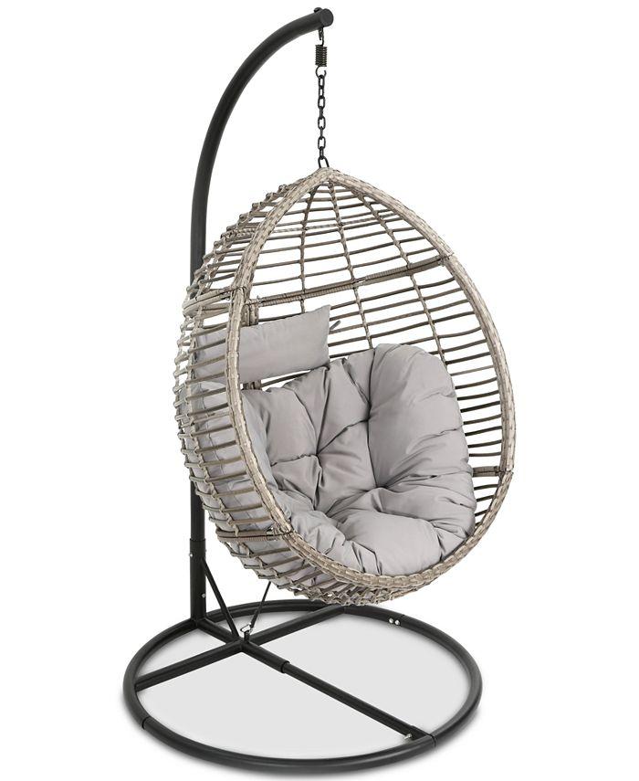 Noble House - Logan Outdoor Basket Chair, Quick Ship