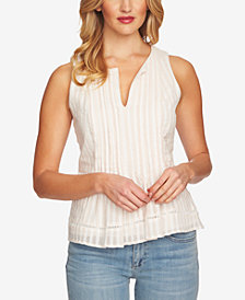 CeCe Cotton Pintucked Top