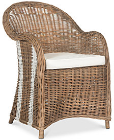 Saxby Wicker Chair, Quick Ship