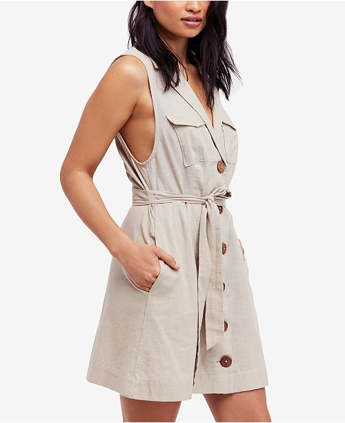 97fb5419e4c Free People Hepburn Cotton Trench Dress   Reviews - Dresses ...