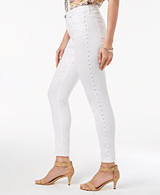 Style & Co Curvy-Fit Studded Skinny Jeans, Created for Macy's