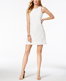 Ivanka Trump Appliqué Sheath Dress
