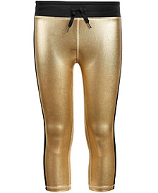 Ideology Big Girls Plus Metallic Capri Leggings, Created for Macy's