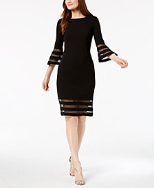 Calvin Klein Illusion-Trim Sheath Dress
