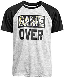 Ideology Big Boys Game Over-Print T-Shirt, Created for Macy's