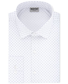 Kenneth Cole Reaction Men's Techni-Cole Slim-Fit Flex Collar Three-Way Stretch Performance White Print Dress Shirt