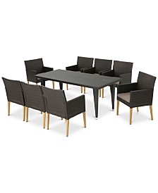 San Marcos 9-Pc. Outdoor Dining Set, Quick Ship