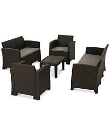 Terrance 5-Pc. Outdoor Chat Set, Quick Ship