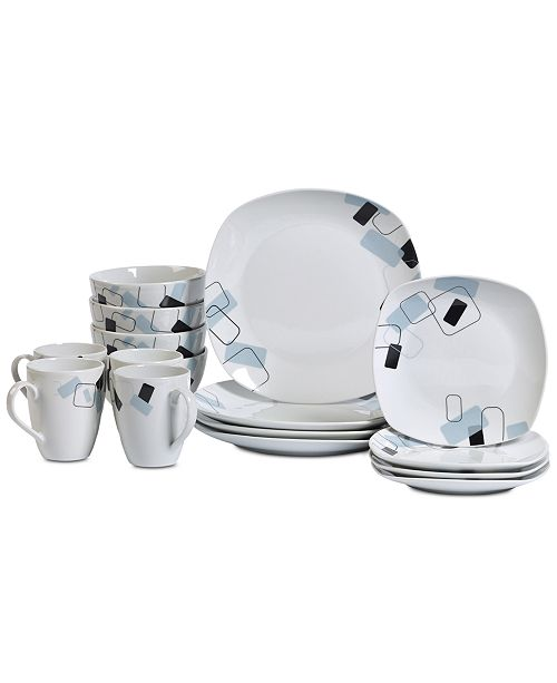 Tabletops Unlimited Dean 16-Pc. Dinnerware Set, Service for 4 ...