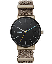 Skagen Men's Ancher Beige NATO Nylon Strap Watch 40mm