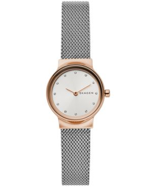 Women'S Freja Two-Tone Stainless Steel Mesh Bracelet Watch 26Mm in Silver