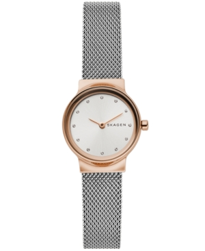 Skagen WOMEN'S FREJA TWO-TONE STAINLESS STEEL MESH BRACELET WATCH 26MM
