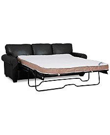 """Orid 84"""" Queen Leather Sleeper, Created for Macy's"""