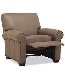 "Orid 36"" Leather Pushback Recliner, Created for Macy's"