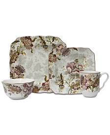 222 Fifth Gabrielle Cream 16-Pc. Dinnerware Set, Service for 4